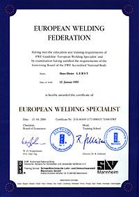European Welding Specialist
